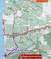 Схема маршрутов к морю