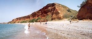 Дикий пляж между Орловкой и Качей